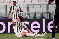 Adrien Rabiot of Juventus reacts during the Champions League round of 16 second leg football match between Juventus FC and Lyon at Juventus stadium in Turin (Italy), August 7th, 2020. <br /> Photo Federico Tardito / Insidefoto