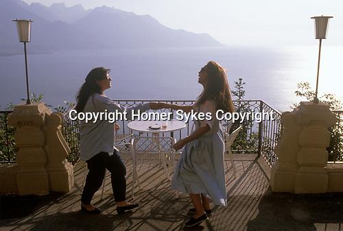 Swiss Finishing school Surval Mont-Fleuri Montreux Switzerland. Lake Geneva  1990S