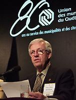 Les assises  de l'Union des Municipalitees du Quebec<br /> , du 6 au 8 mai 1999, au Palais des Congres -<br /> Paul Leduc, Maire de Brossard<br /> <br /> <br /> PHOTO : Agence Quebec Presse