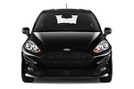 Car photography straight front view of a 2019 Ford Fiesta ST-Line 5 Door Hatchback