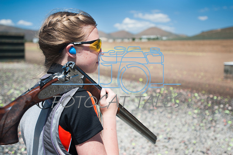 during the California Youth Shotgun Shooting Association's championship shootout at the Capitol City Gun Club in Carson City, Nev. on Saturday, May 2, 2015.<br /> Photo by Kevin Clifford/Nevada Photo Source