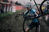 Witse Meeussen (BEL) on his way to silver<br /> <br /> Junior Men's Race<br /> Belgian National CX Championschips<br /> Kruibeke 2019