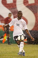 United States midfielder Maurice Edu (26). The men's national teams of the United States and Argentina played to a 0-0 tie during an international friendly at Giants Stadium in East Rutherford, NJ, on June 8, 2008.