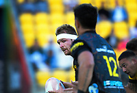 Chiefs' Sam Cane looks for support during the Super Rugby Aotearoa match between the Hurricanes and Chiefs at Sky Stadium in Wellington, New Zealand on Saturday, 20 March 2020. Photo: Dave Lintott / lintottphoto.co.nz