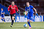 Ulsan Hyundai Forward Ivan Kovacec (R) fights for the ball with Muangthong Forward Xisco Jimenez (L) during the AFC Champions League 2017 Group E match between  Ulsan Hyundai FC (KOR) vs Muangthong United (THA) at the Ulsan Munsu Football Stadium on 14 March 2017 in Ulsan, South Korea. Photo by Chung Yan Man / Power Sport Images