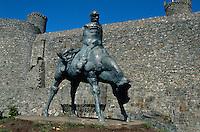 Großbritannien, Wales, Burg von Harlech, Skulptur von Ivor Jones, Unesco-Weltkulturerbe