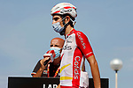 Guillaume Martin (FRA) Cofidis at sign on before the start of Stage 16 of La Vuelta d'Espana 2021, running 180km from Laredo to Santa Cruz de Bezana, Spain. 31st August 2021.     <br /> Picture: Luis Angel Gomez/Photogomezsport   Cyclefile<br /> <br /> All photos usage must carry mandatory copyright credit (© Cyclefile   Luis Angel Gomez/Photogomezsport)