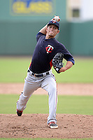 Minnesota Twins pitcher Dereck Rodriguez (31) during an Instructional League game against the Boston Red Sox on September 26, 2014 at jetBlue Park at Fenway South in Fort Myers, Florida.  (Mike Janes/Four Seam Images)