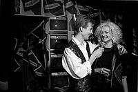 Montreal (Qc) CANADA -Nov 11, 1986  Marc Carpentier (L) at Marjo (R) album launch