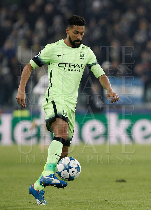 Calcio, Champions League: Gruppo D - Juventus vs Manchester City. Torino, Juventus Stadium, 25 novembre 2015.<br /> Manchester City's Gael Clichy in action during the Group D Champions League football match between Juventus and Manchester City at Turin's Juventus Stadium, 25 November 2015. <br /> UPDATE IMAGES PRESS/Isabella Bonotto