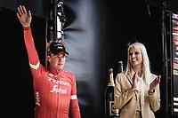 Podium: <br /> <br /> 2nd place finisher Mads Pedersen (DEN/Trek Segafredo)<br /> <br /> 102nd Ronde van Vlaanderen 2018<br /> 1day race: Antwerp › Oudenaarde - BEL (265k)