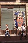Tango mural of Carlos Gardel San Telmo,  Buenos Aires Argentina South America 2002 2000s