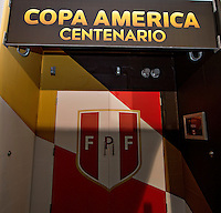 Photo before the match Peru vs Colombia, Corresponding to the quarterfinals of the America Cup 2016 Centenary at Metlife Stadium.<br /> <br /> Foto previo al partido Peru vs Colombia, Correspondiente a los Cuartos de Final de la Copa America Centenario 2016 en el Estadio Metlife, en la foto: Vestidores de Peru<br /> <br /> 17/06/2016/MEXSPORT/Osvaldo Aguilar.