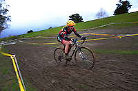Anja McDonald competes in the Elite Women's race of the 2016 Huttcross cyclocross national championships at Moonshine Park, Upper Hutt, Wellington, New Zealand on Saturday, 6 August 2016. Photo: Dave Lintott / lintottphoto.co.nz
