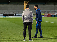 Bolton Wanderers' Jacob Mellis (right) pictured before the match <br /> <br /> Photographer Andrew Kearns/CameraSport<br /> <br /> The Premier League - Leicester City v Aston Villa - Monday 9th March 2020 - King Power Stadium - Leicester<br /> <br /> World Copyright © 2020 CameraSport. All rights reserved. 43 Linden Ave. Countesthorpe. Leicester. England. LE8 5PG - Tel: +44 (0) 116 277 4147 - admin@camerasport.com - www.camerasport.com