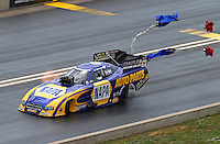 Jul. 20, 2014; Morrison, CO, USA; NHRA funny car driver Ron Capps during the Mile High Nationals at Bandimere Speedway. Mandatory Credit: Mark J. Rebilas-