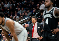 WASHINGTON, DC - FEBRUARY 19: Ed Cooley Head Coach of Providence watches the action during a game between Providence and Georgetown at Capital One Arena on February 19, 2020 in Washington, DC.