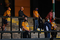 8th September 2020; Abbey Stadium, Cambridge, Cambridgeshire, England; EFL Trophy Football, Cambridge United versus Fulham Under 21; Cambridge Utd fans in the stands watching the game