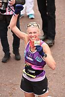 Nell McAndrew<br /> at the finishof the London Marathon 2019, Greenwich, London<br /> <br /> ©Ash Knotek  D3496  28/04/2019