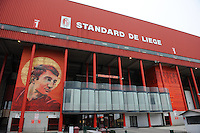 20151007 - LIEGE , BELGIUM : Standard 's  Stade Maurice Dufrasne pictured during the female soccer match between STANDARD Femina de Liege and 1. FFC Frankfurt , in the 1/16 final ( round of 32 ) first leg in the UEFA Women's Champions League 2015 in stade Maurice Dufrasne - Sclessin in Liege. Wednesday 7 October 2015 . PHOTO DAVID CATRY