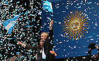 Argentine President Cristina Fernandez de Kirchner and her husband, former president Nestor Kirchner, during a rally in Plaza de Mayo organized to reply the bang pottings and anti-government demonstrations of the last days, when Cristina seemed to loose control in a long conflict with farmers protesting a rise in exportation taxes.