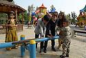Iraq 2015<br />Kurdish children playing in a park of Erbil  <br />Irak 2015 <br />Des enfants jouant sur un terrain de jeu dans un parc d'Erbil