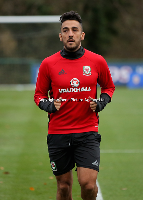 Neil Taylor in action during the Wales Training Session at The Vale Resort, Wales, UK. 06 November 2017