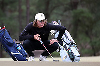 PINEHURST, NC - MARCH 02: BJ Rogillio of Wake Forest University lines up a putt on the third hole at Pinehurst No. 2 on March 02, 2021 in Pinehurst, North Carolina.