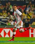 Tonga play Tunisia on Day 1 of the Cathay Pacific / HSBC Hong Kong Sevens 2013 at Hong Kong Stadium, Hong Kong. Photo by Manuel Queimadelos / The Power of Sport Images