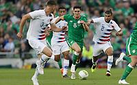 Dublin, Ireland - Saturday June 02, 2018: Callum O'Dowda, DeAndre Yedlin during an international friendly match between the men's national teams of the United States (USA) and Republic of Ireland (IRE) at Aviva Stadium.