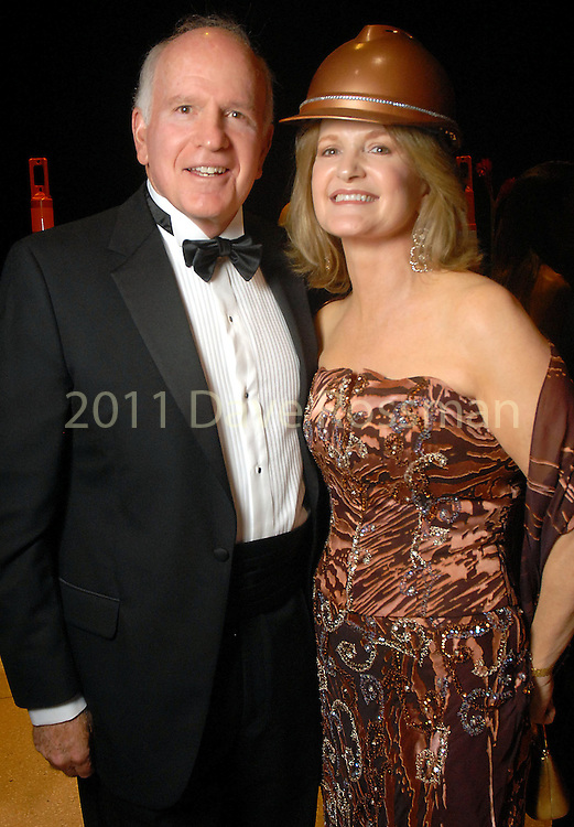 """Dr. Barney Barrett and his wife Sandy at  the """"Wrecking Ball"""" at the Houston Museum of Natural Science Saturday  March 07, 2009. (Dave Rossman/For the Chronicle)"""
