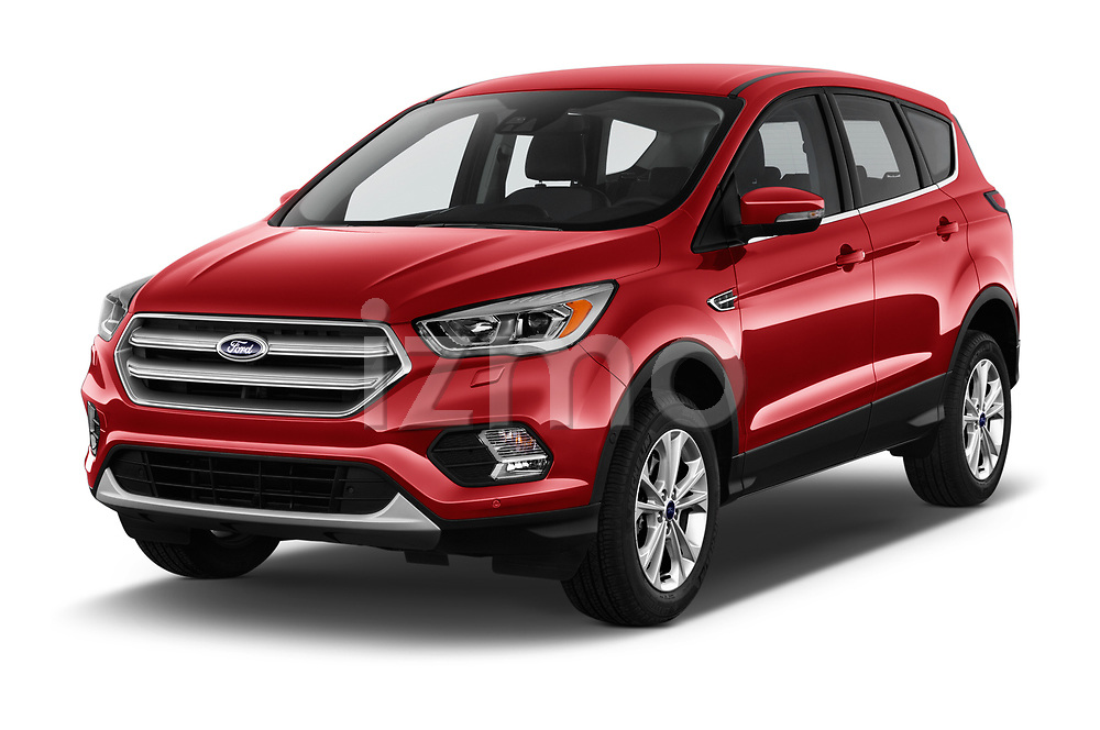 2017 Ford Kuga Titanium 5 Door SUV Angular Front stock photos of front three quarter view