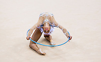 11 AUG 2012 - LONDON, GBR - Daria Dmitrieva (RUS) of Russia performs her hoop routine during the 2012 London Olympic Games Individual All-Around Rhythmic Gymnastics final at Wembley Arena in London, Great Britain (PHOTO (C) 2012 NIGEL FARROW)