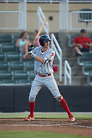 McCarthy Tatum (28) of the Lakewood BlueClaws at bat against the Kannapolis Intimidators at Kannapolis Intimidators Stadium on July 18, 2019 in Kannapolis, North Carolina. The Intimidators defeated the BlueClaws 7-1. (Brian Westerholt/Four Seam Images)