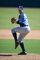 Tampa Bay Rays pitcher Garrett Fulenchek (77) during an instructional league game against the Baltimore Orioles on September 25, 2015 at Ed Smith Stadium in Sarasota, Florida.  (Mike Janes/Four Seam Images)
