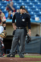 Umpire Charlie Ramos during a game between the Quad Cities River Bandits and Wisconsin Timber Rattlers on May 24, 2013 at Modern Woodmen Park in Davenport, Iowa.  Quad Cities defeated Wisconsin 4-3  (Mike Janes/Four Seam Images)