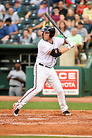 Northern Divisions first baseman Seamus Curran (30) of the Delmarva Shorebirds awaits a pitch during the South Atlantic League All Star Game at First National Bank Field on June 19, 2018 in Greensboro, North Carolina. The game Southern Division defeated the Northern Division 9-5. (Tony Farlow/Four Seam Images)
