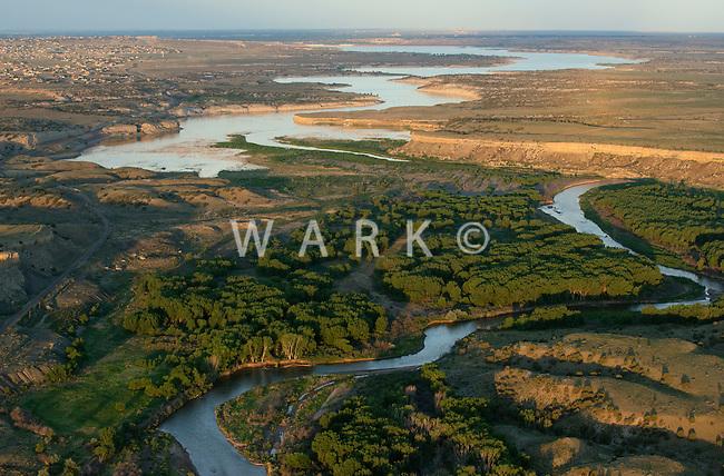 Arkansas River as it approaches Lake Pueblo, Colorado. June 2014. 85787