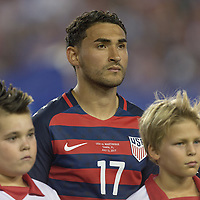 Tampa, FL - July 12, 2017: Cristian Roldan The USMNT (USA) defeated Martinique (MAR) 3-2 in a 2017 Gold Cup group stage match at Raymond James Stadium.