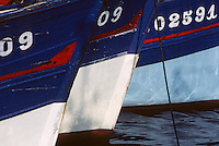 Europe/France/Bretagne/29/Finistère/Le Guilvinec: Détail bateaux de pêche sur le port