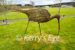 Curlew statue made from willows in Lyreacrumpane.