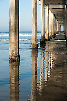 Underneath Scripp's pier, La Jolla, California