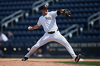 Scranton/Wilkes-Barre RailRiders relief pitcher Nick Green (28) in action against the Rochester Red Wings at PNC Field on July 25, 2021 in Moosic, Pennsylvania. (Brian Westerholt/Four Seam Images)