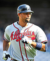 25 September 2010: Atlanta Braves outfielder Derrek Lee in action against the Washington Nationals at Nationals Park in Washington, DC. The Braves shut out the Nationals 5-0 to even their 3-game series at one win apiece. The Braves' victory was the 2500th career win for skipper Bobby Cox. Cox will retire at the end of the 2010 season, crowning a 29-year managerial career. Mandatory Credit: Ed Wolfstein Photo