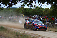 5th June 2021; Monte Acuto, Sardinia; WRC rally of Italia Sardinia; Pi Louis Loubet-Hyundai i20 WRC