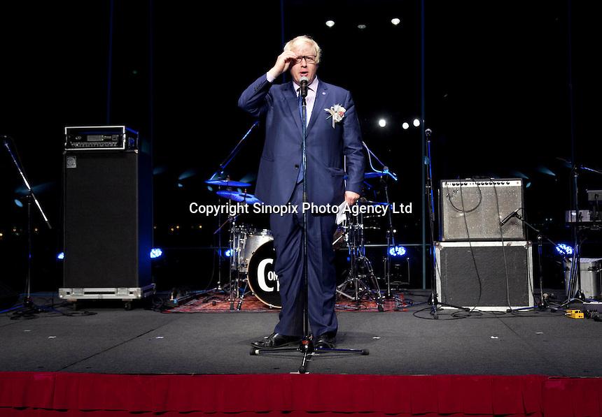 OCTOBER 15, 2014 -TOKYO, JAPAN: Mayor of London, Boris Johnson, promotes UK-Japan partnerships in cell therapy and regenerative medicine at Bio-city conference in Yokohama, Japan 14th October, 2015. (photo by Ko Sasaki- Sinopx)