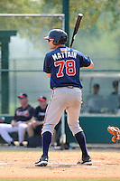 Infielder Travis Matter (78) of the Atlanta Braves farm system in a Minor League Spring Training intrasquad game on Wednesday, March 18, 2015, at the ESPN Wide World of Sports Complex in Lake Buena Vista, Florida. (Tom Priddy/Four Seam Images)
