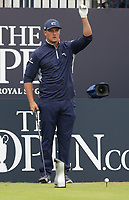 14th July 2021; The Royal St. George's Golf Club, Sandwich, Kent, England; The 149th Open Golf Championship, practice day; Bryson Dechambeau (USA) prepares to hit his tee shot on the 1st hole