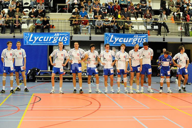volleybal lycurgus - vk chemes humenne gm capital challenge cup eizoen 2008-2009 11-10-2008  presentatie lycurgus.fotograaf jan kanning