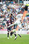 Real Madrid's Carlos Henrique Casemiro and Sociedad Deportiva Eibar's Sergi Enrich during La Liga match. April 09, 2016. (ALTERPHOTOS/Borja B.Hojas)